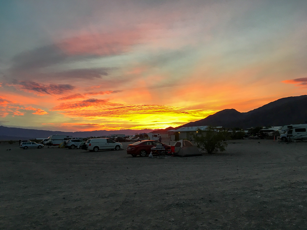 Sunset at Stovepipe Wells Campground   Death Valley National Park