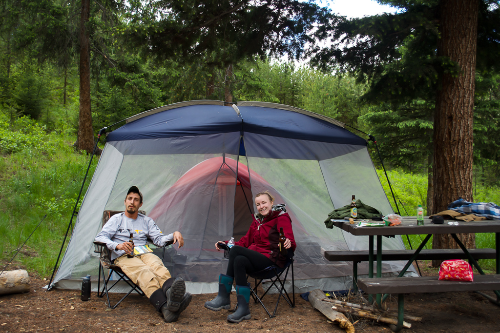 Best tent camping in Yellowstone at Tower Fall Campground