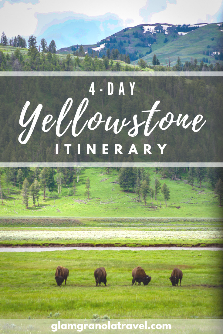 Visiting the majestic (and massive) Yellowstone National Park in a long weekend is tricky, but it can be done with this geyser, wildlife, and fun filled 4-day Yellowstone itinerary! Click here to find out how you really can see it all—and maybe have time to hit the hiking trails, too!