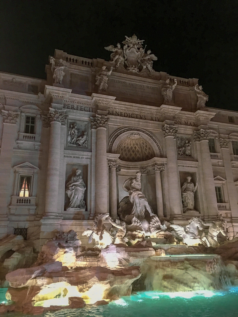 Trevi Fountain at night, Rome | 10 Day Italy Itinerary