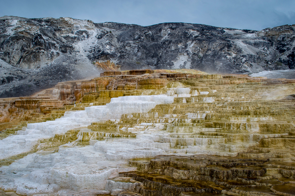 Mammoth Hot Springs geothermal features in Yellowstone National Park