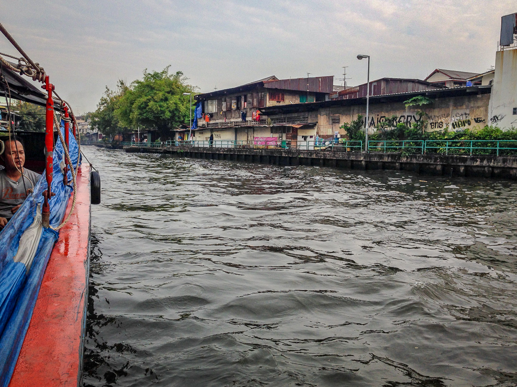 Water taxis make for entertaining travel around Bangkok, Thailand