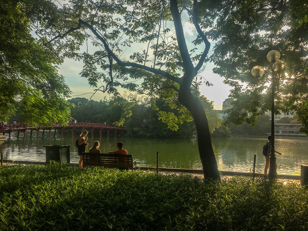 Hoan Kiem Lake in Hanoi, Vietnam