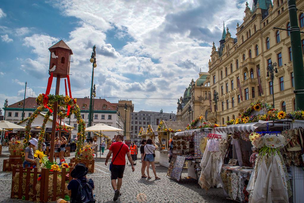 Flower Market in Prague's Republic Square