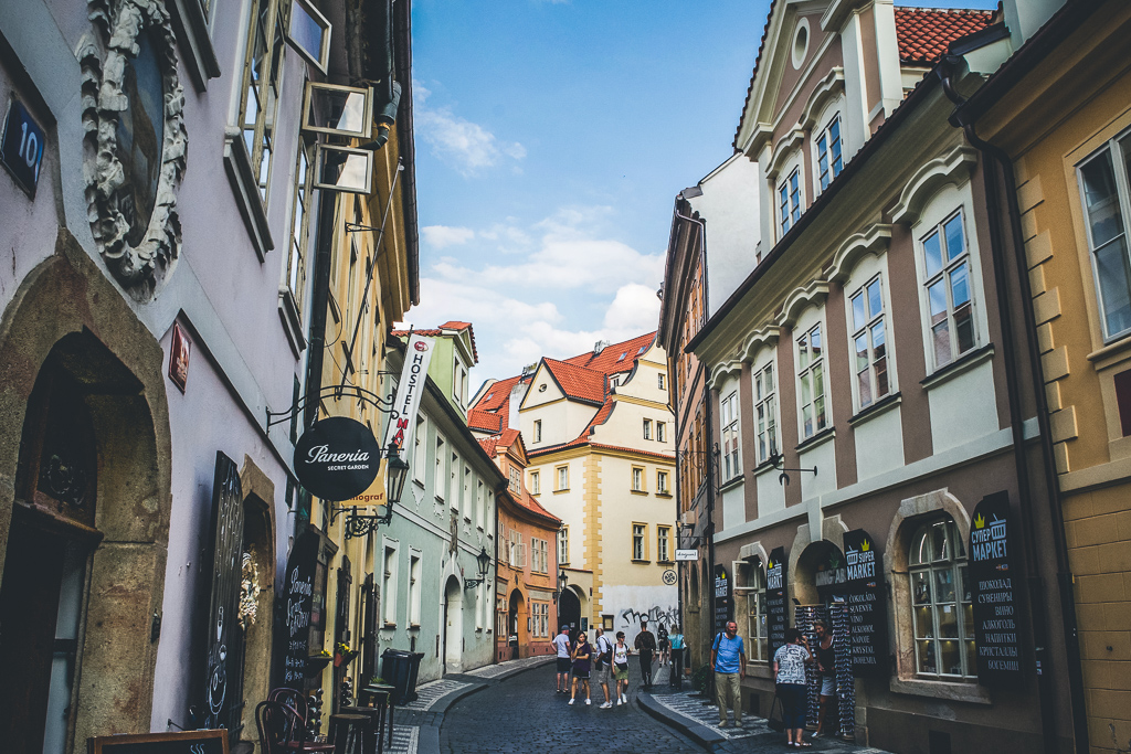 Charming streets in Prague's Old Town
