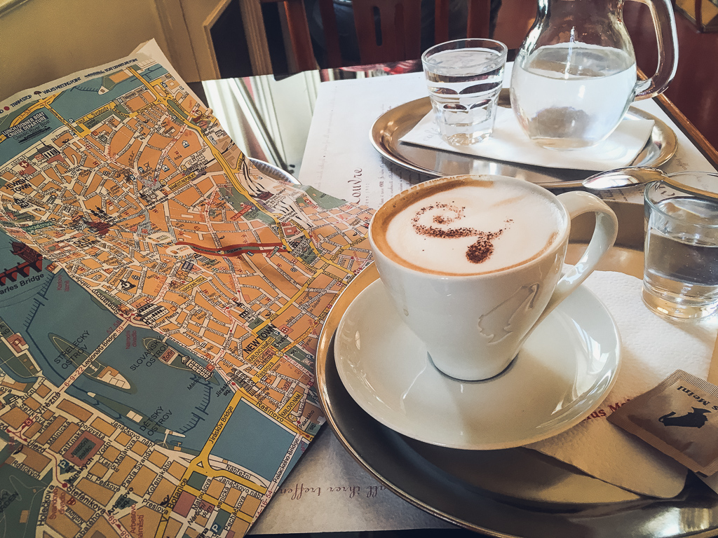 Planning my day at Cafe Louvre