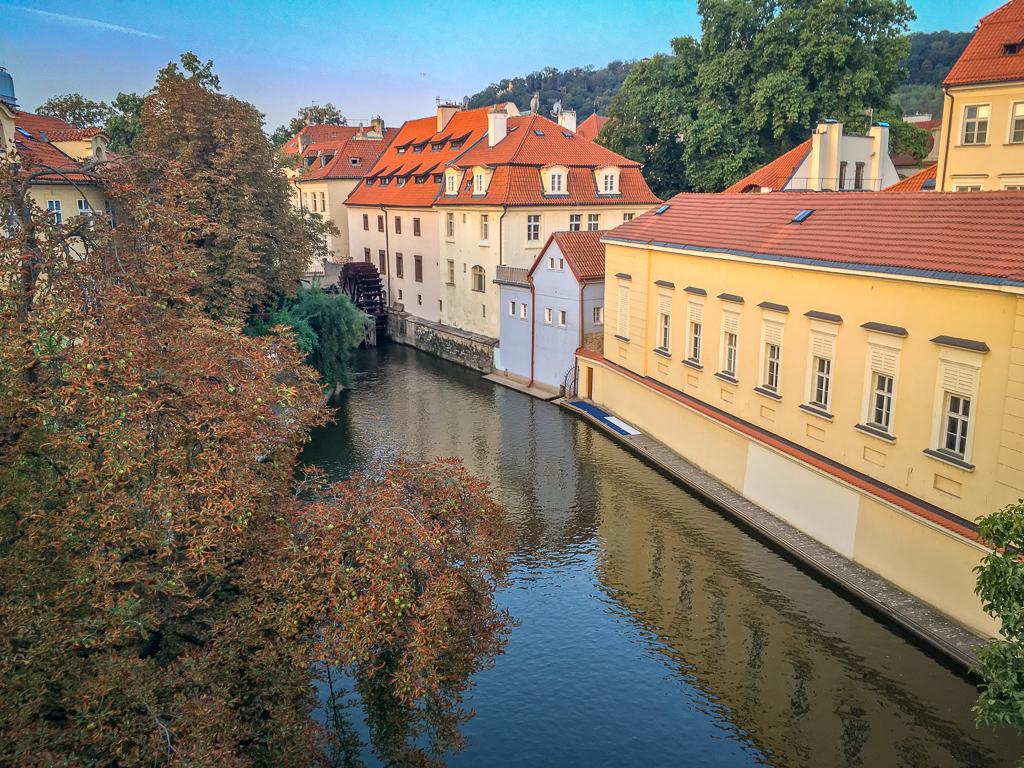 Very pretty canal in Prague
