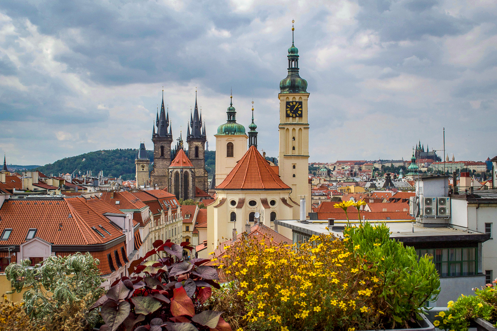 Views of Prague from T-Anker's Rooftop Terrace