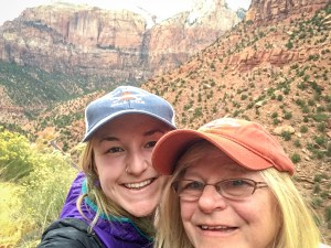 My mom and I at Zion, inspiration for National Park themed gifts for moms