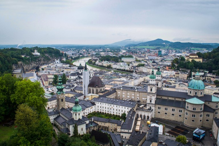 View of Salzburg's Old City from the Fortress