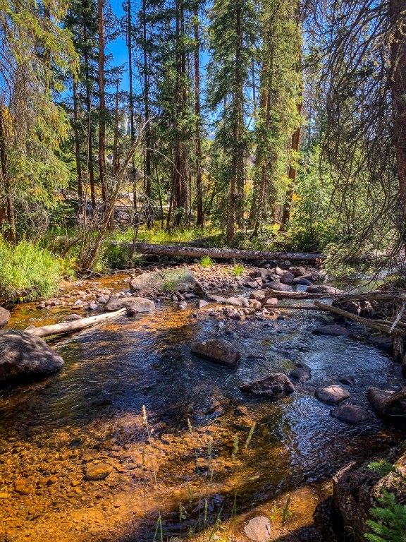 Creek on Tonahutu Trail in Rocky Mountain National Park