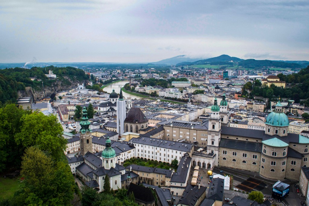 View of Salzburg from the Salzburg Fortress