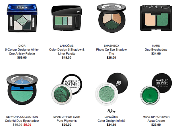 Products available at Sephora