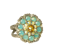 Charmed Chrystal Bloom Cocktail Ring