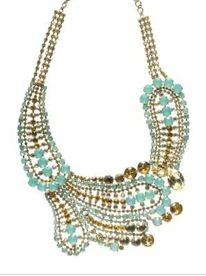 Oversized Paisley Crystal Necklace
