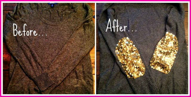 before & after sweater collage