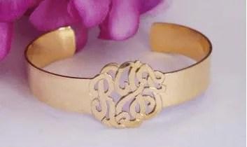 Monogrammed Cut Out Bracelet