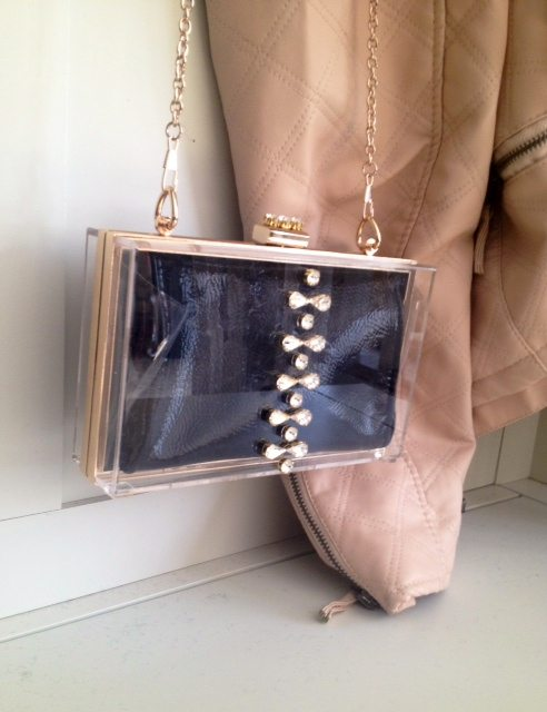Clutch with bag
