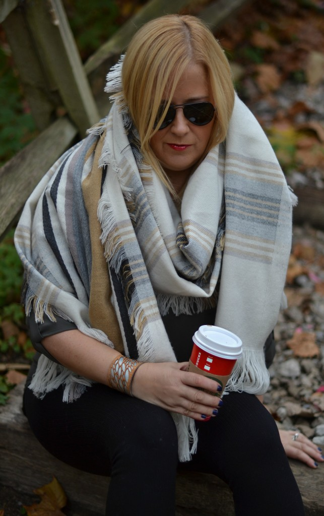 How to style a blanket scarf in 3 easy steps! GlamKaren.com