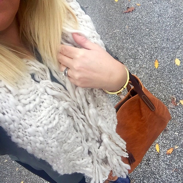 The BEST cozy (and chic!) scarf that you need to own! GlamKaren.com