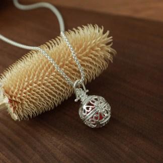 Halskette Kugelanhänger Achat