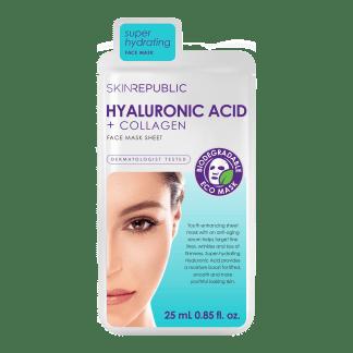 Skin Republic Hyaluronic Acid + Collagen Gesichts-Tuchmaske