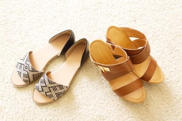 Tommy Hilfiger Mili2 Wedge Sandals and Peep Toe Flats (Raffia).