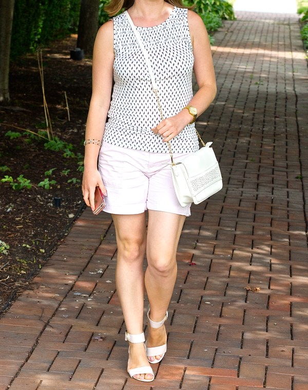 Blush and White outfit idea