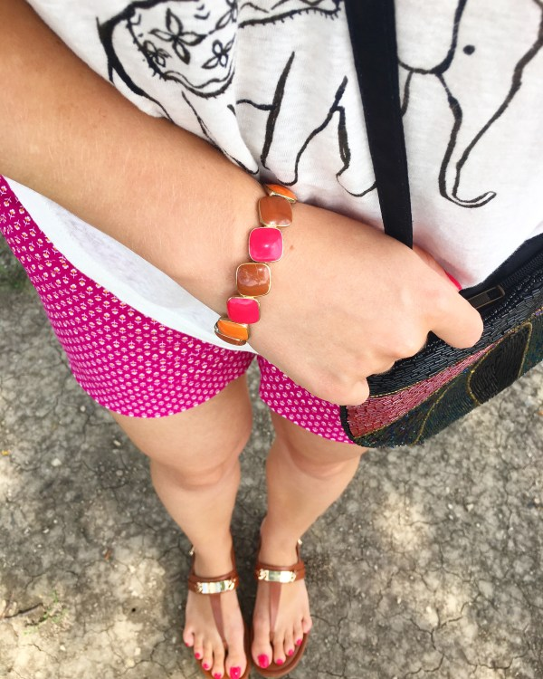 Pink Orange Brown Bracelet