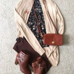 Floral Print Chiffon Top 4 Ways – Fall Outfit Idea