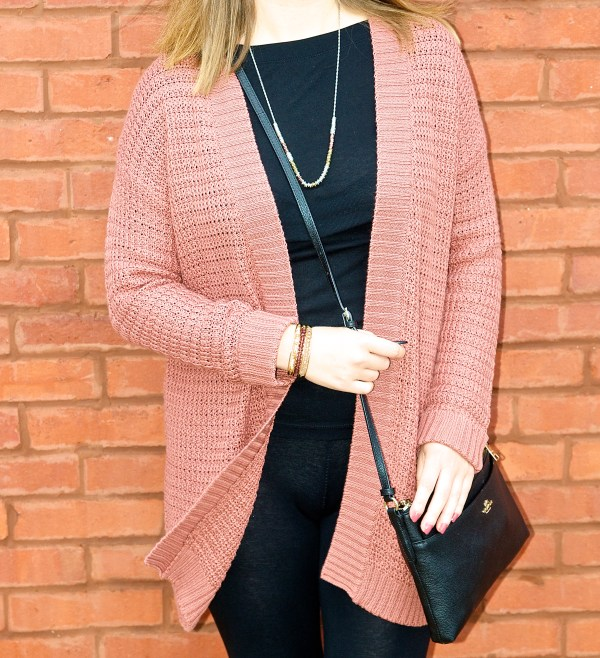 Burgundy and Black Outfit Idea