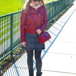 Red Faux Leather Jacket – Fall Outfit Idea