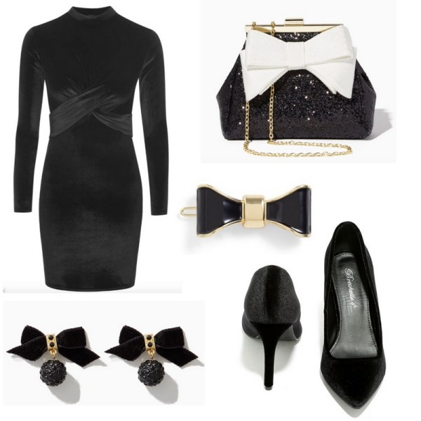 New Year's Eve Outfit Idea - Black Dress