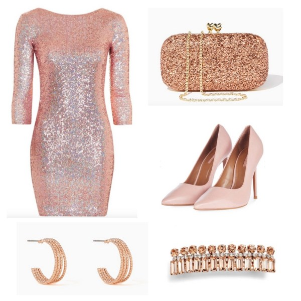 New Year's Eve Outfit Idea - Pink Dress