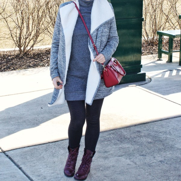 Grey Coat/Wrap Look