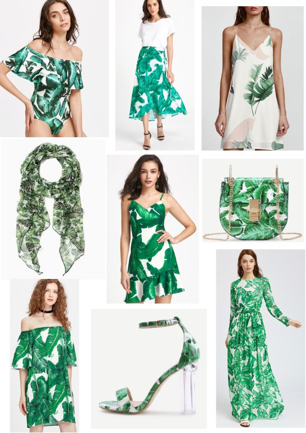 Green Palm Tree Print Clothes Inspirations