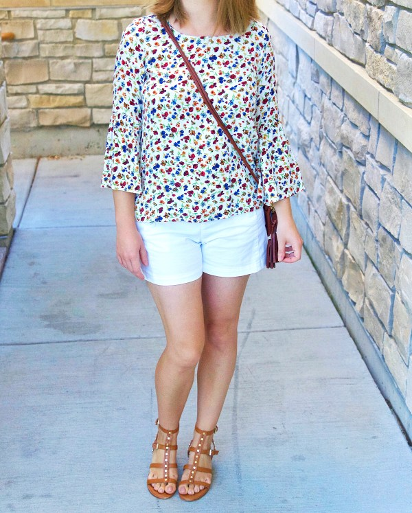 Floral Top and White Shorts