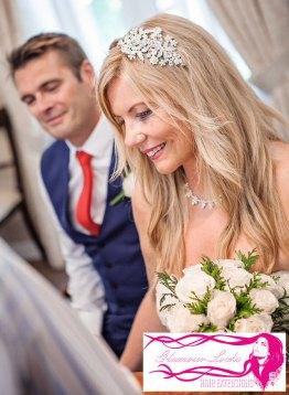 Close Up Bridal Hair Extensions