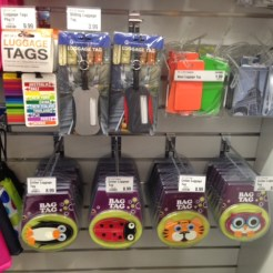 Luggage tags are very important! Get one that stands out.