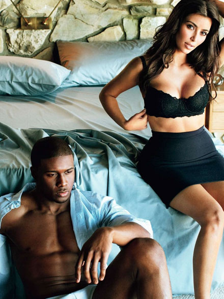 Reggie Bush and Kim Kardashian joint photoshoot for GQ April 2009