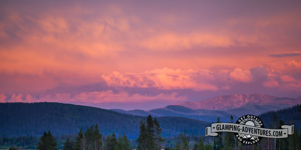 Sunset at Steamboat Lake.