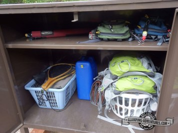Perfect for storing our fishing and hiking gear.