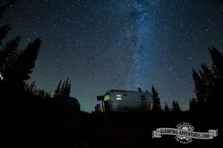 Milky Way over the Airstream, Sugarloaf CG. Sugarloaf Rec. Area, WY.