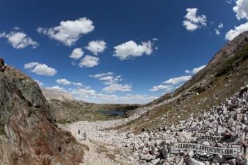 Climbing up Medicine Bow Trail. Sugarloaf Rec. Area, WY.