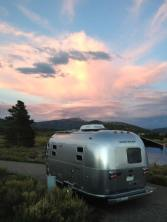 Sunset over site. Steamboat Lake, CO.