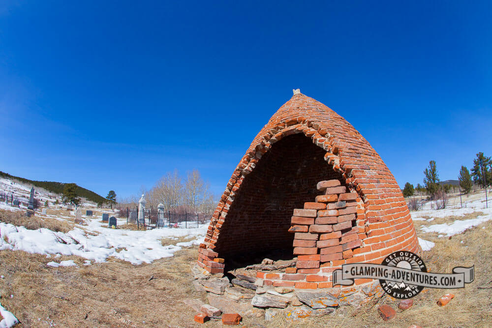 A structure in the Catholic cemetery. Central City, CO