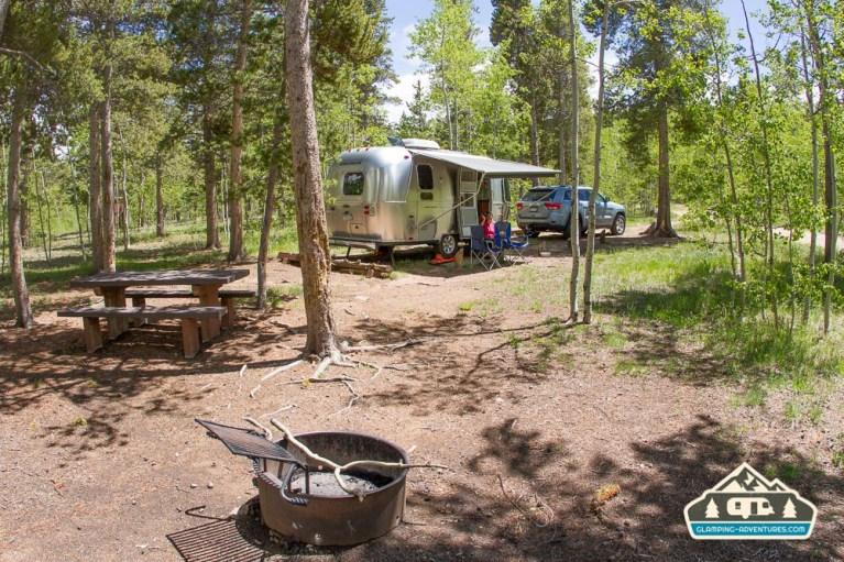 Campsite. Kenosha Pass CG, CO.
