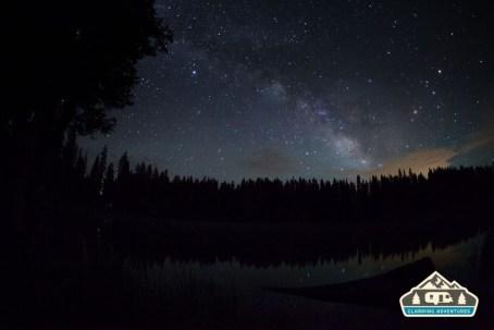 Milky Way over Cobbett Lake. Cobbett Lake CG, Grand Mesa CO.