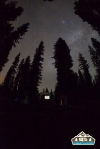 Milky Way over the Airstream. Cobbett Lake CG, Grand Mesa CO.
