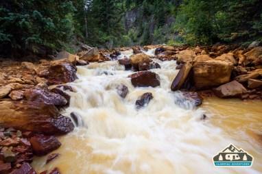 Uncompahgre River is running orange.